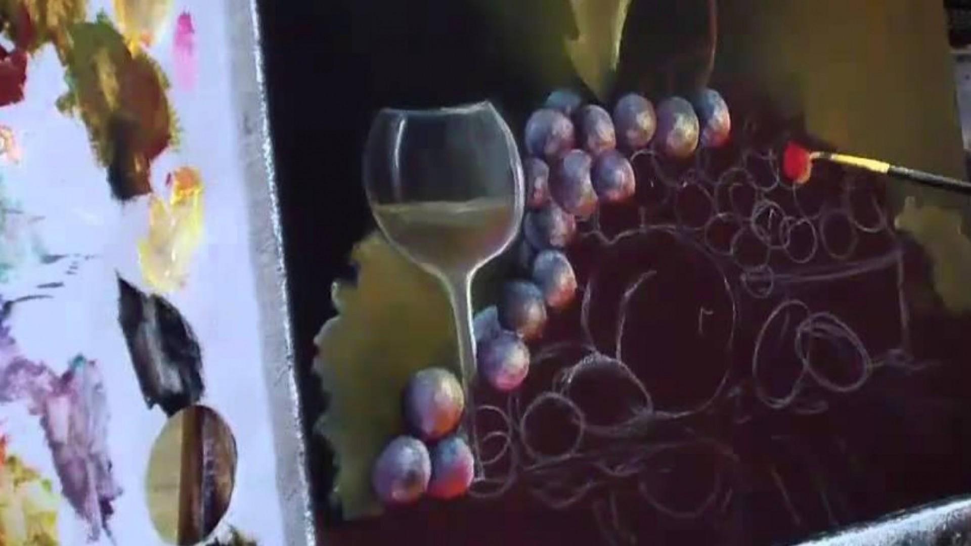 Мастер-класс по живописи: пишем виноград
