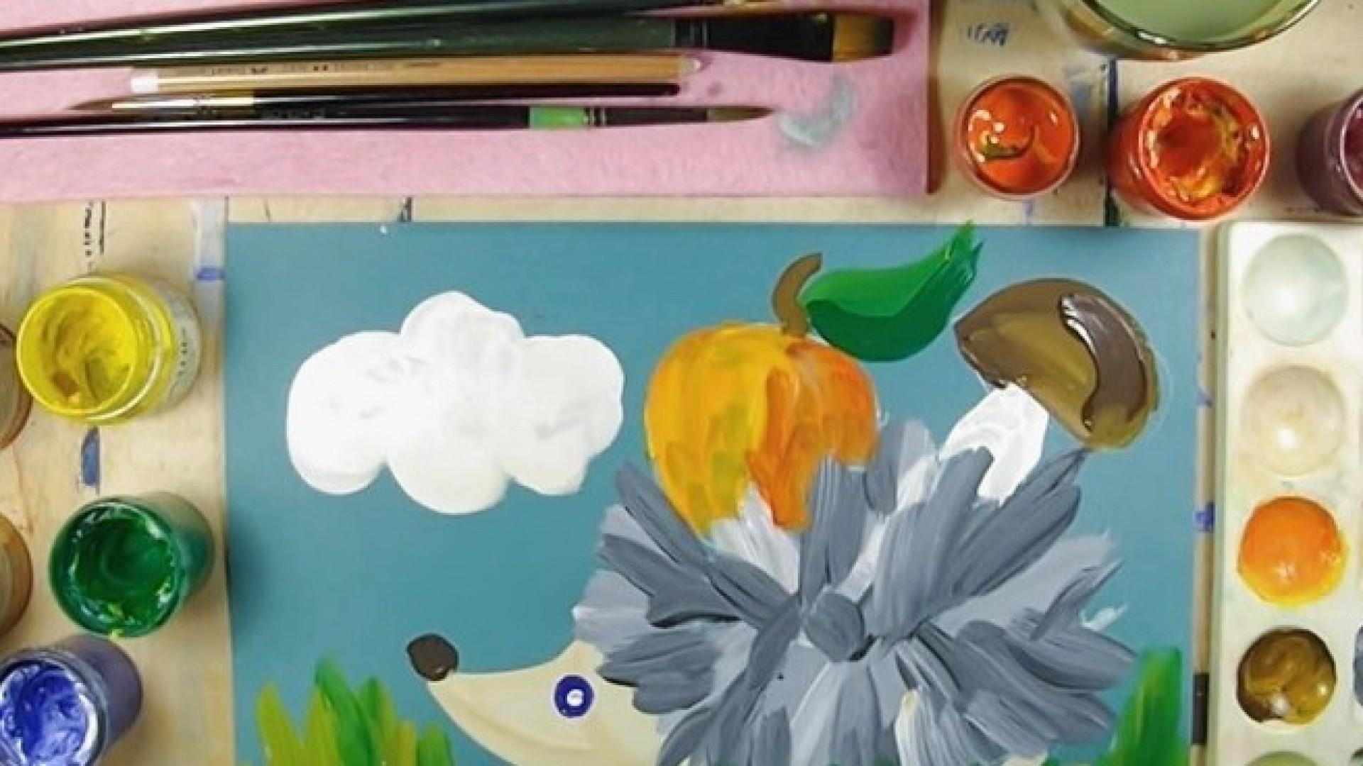 Видео-урок для детей и родителей от художницы Нины Журовой: рисуем ёжика и зайца