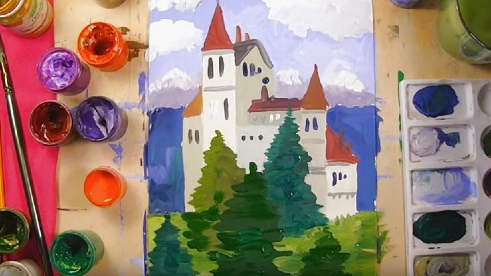 Видео-урок для детей: рисуем замок