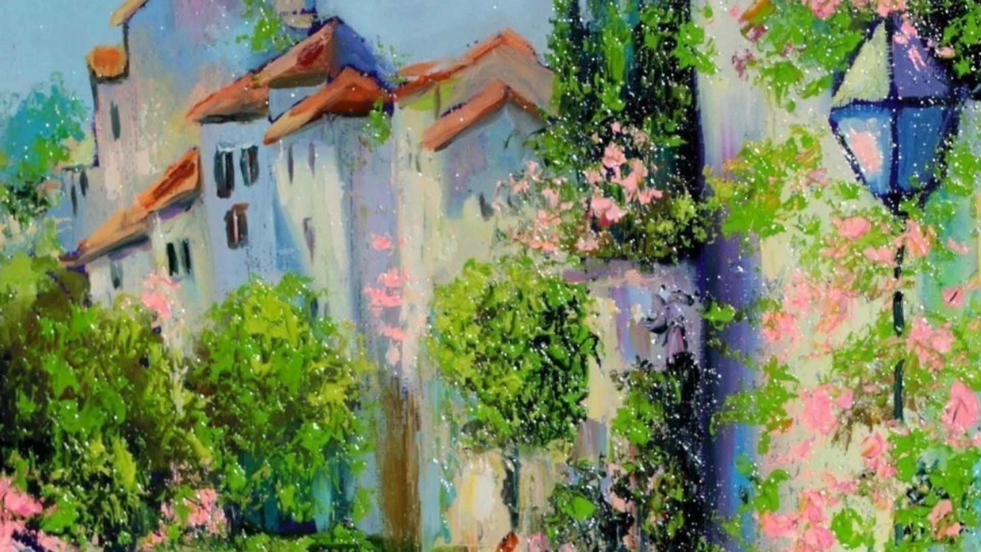 Мастер-класс по живописи: пишем южный городок