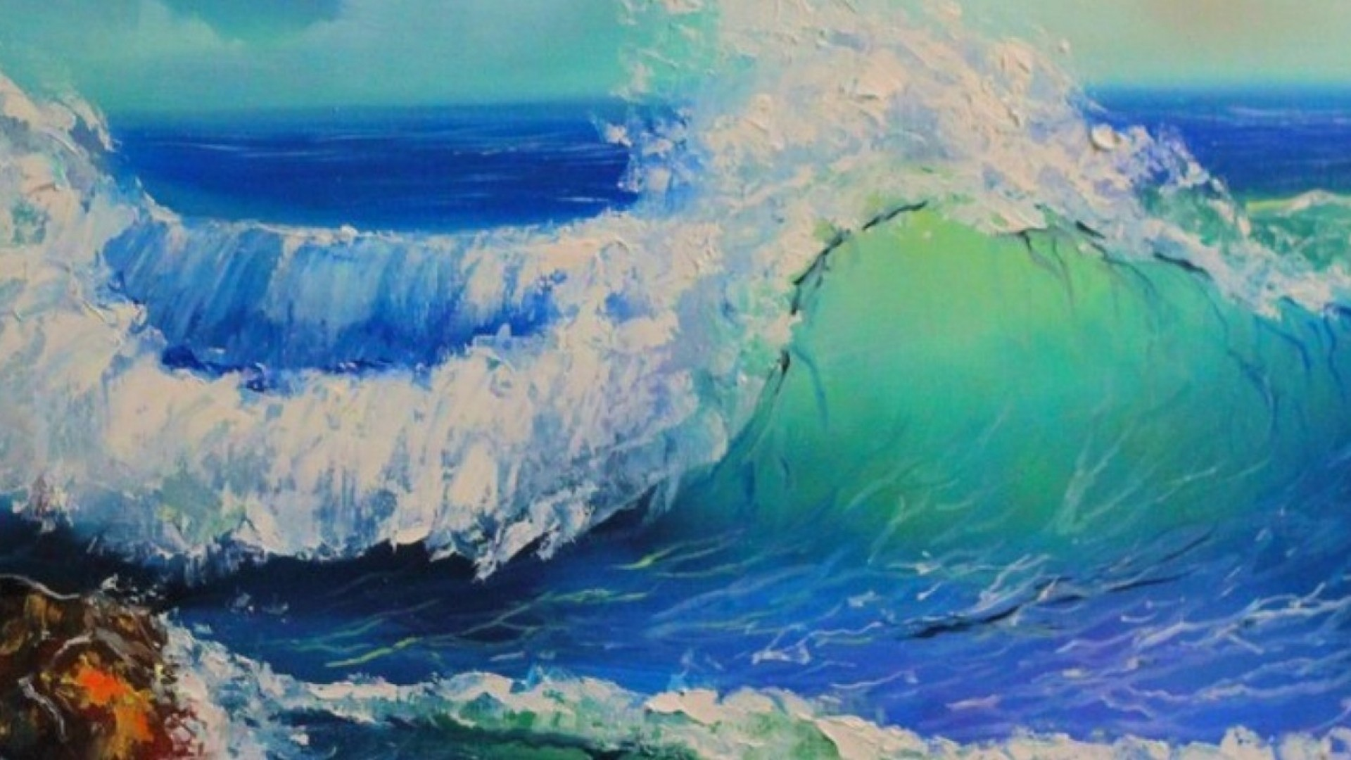 Мастер-класс по живописи: пишем море