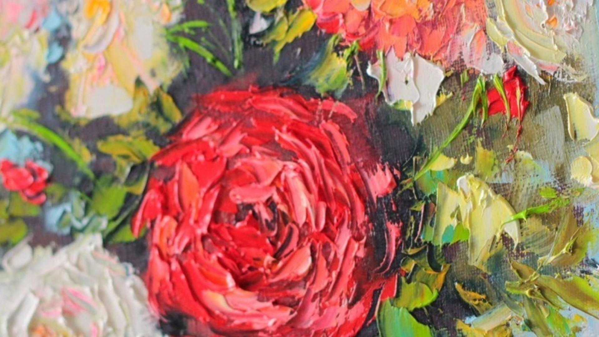 Мастер-класс по живописи: пишем розы