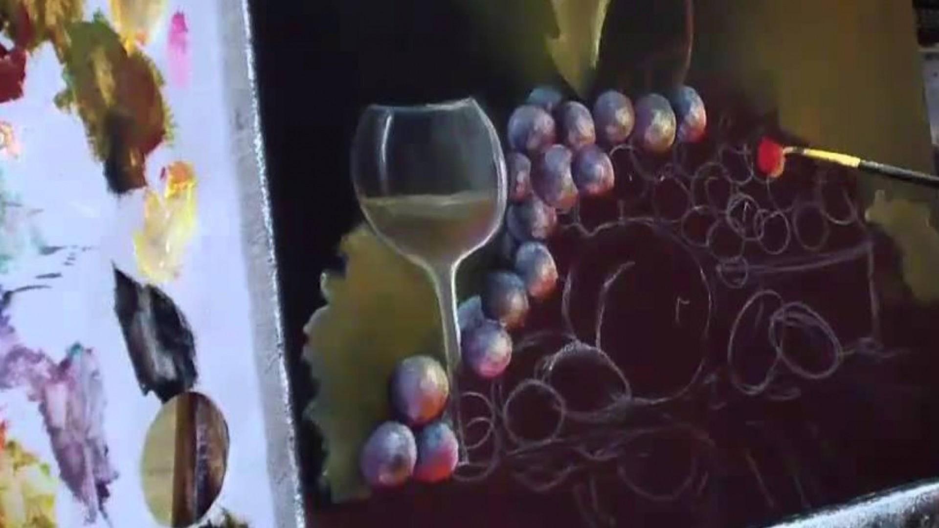 Мастер-класс по живописи: пишем виноград (3 и 4 части)